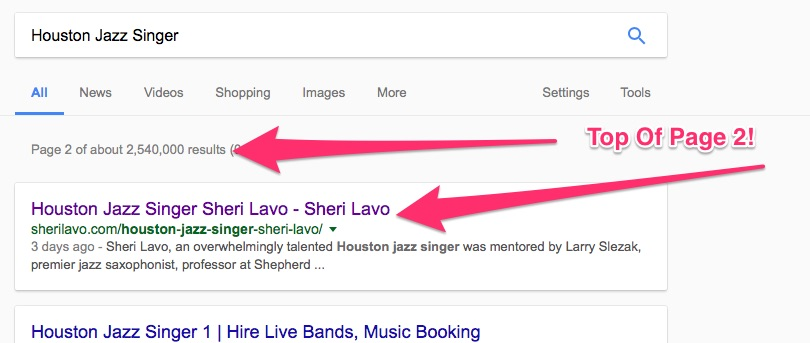 Houston Jazz Singer, Sheri Lavo